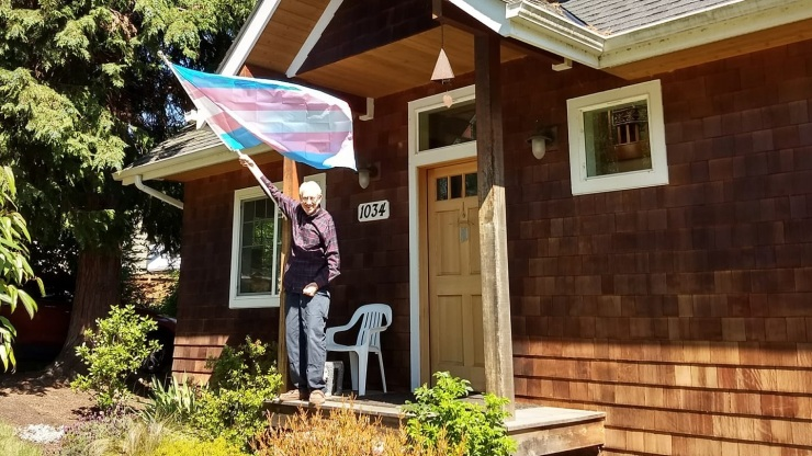 Dad's Trans Flag